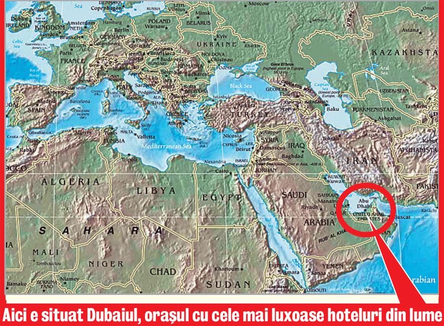 Harta Dubai Harta Continent