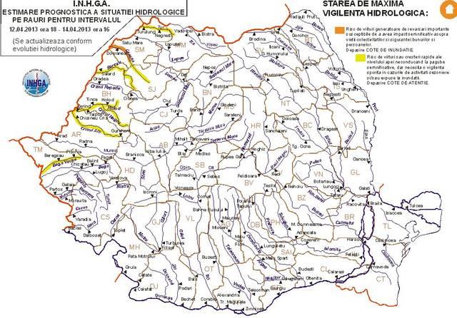 Cod Portocaliu De Inundații In Vestul Romaniei Vezi Harta Zonelor